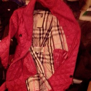 XL Burberry Quilted Double breasted  Coat